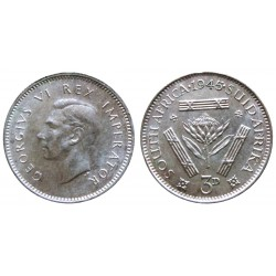 South Africa  - 3 pence 1945