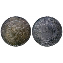 Switzerland - 5 Francs 1890 B